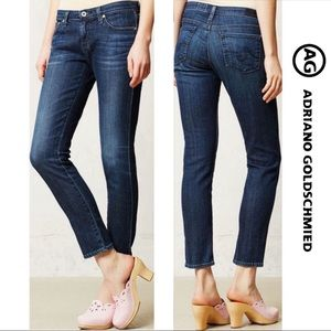 AG Jeans The Stevie Ankle Slim Straight Leg Blue